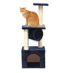 絨布麻繩貓跳台