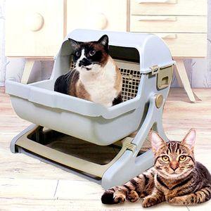 貓砂盆推薦-半自動