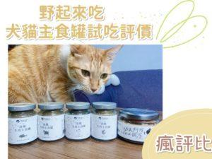 【瘋評比】野起來吃犬貓主食罐開箱|五貓一狗試吃評價