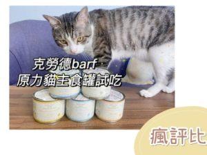 【瘋評比】Dr.克勞德原力貓主食罐開箱|五貓試吃評價