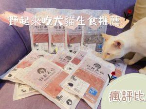 野起來吃犬貓生食開箱 五貓一狗試吃評價【瘋評比】
